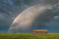living skies, rainbow, saskatchewan, thunderstorm