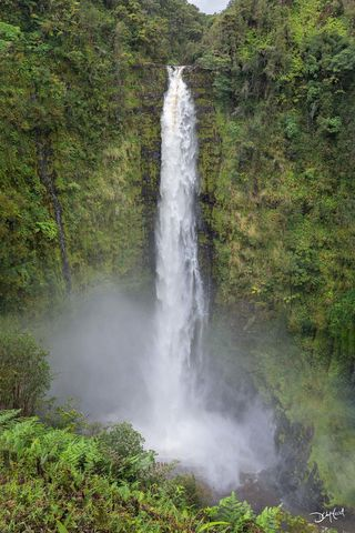 akaka, falls, hawaii, rush, thundering, water