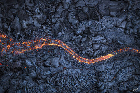 east rift zone, hawaii, middle earth, molten, lava, flow, curvy