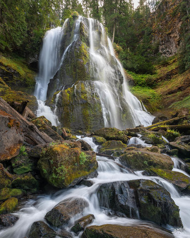 falls creek, falls, washington, waterfall