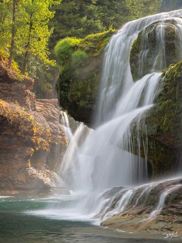 lower lewis falls, washington, alive, rushing, river