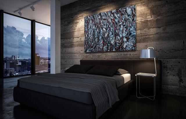 fabric of life, print, bedroom
