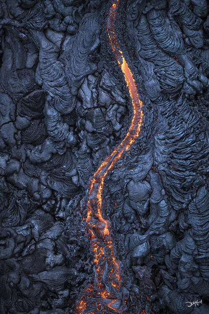 middle earth, east rift zone, hawaii, vertical, stream, lava