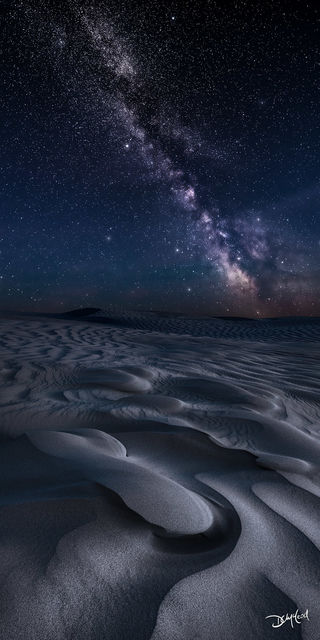 mirage, great sandhills, saskatchewan, sand dunes, milky way, stars