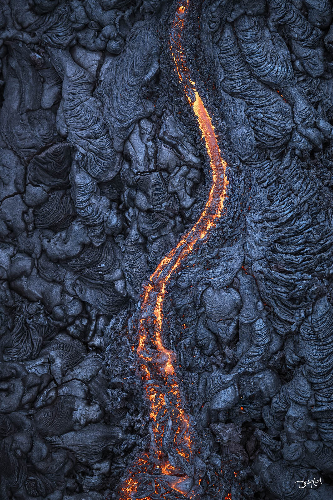 middle earth, east rift zone, hawaii, vertical, stream, lava, photo
