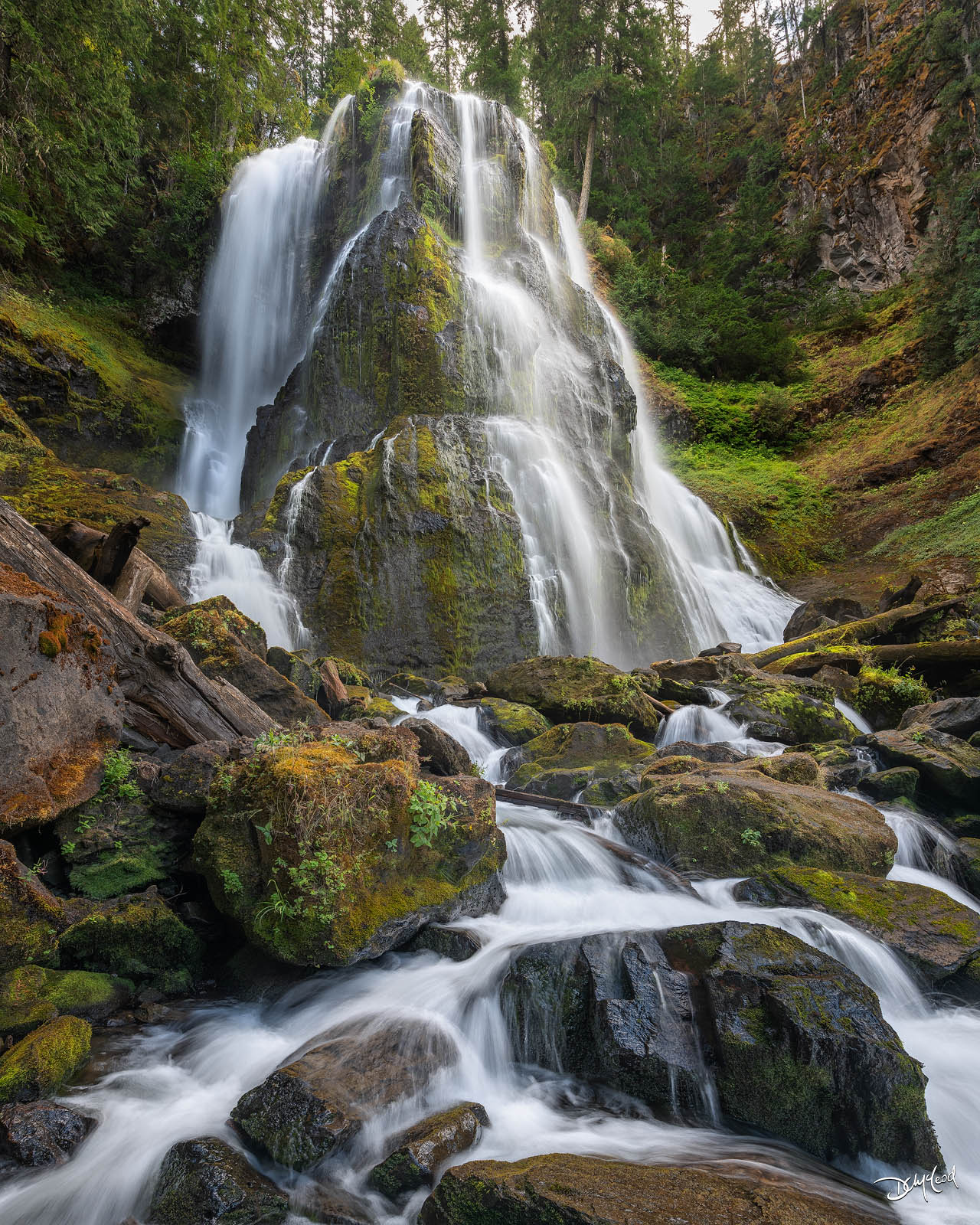 falls creek falls, washington, waterfall, photo
