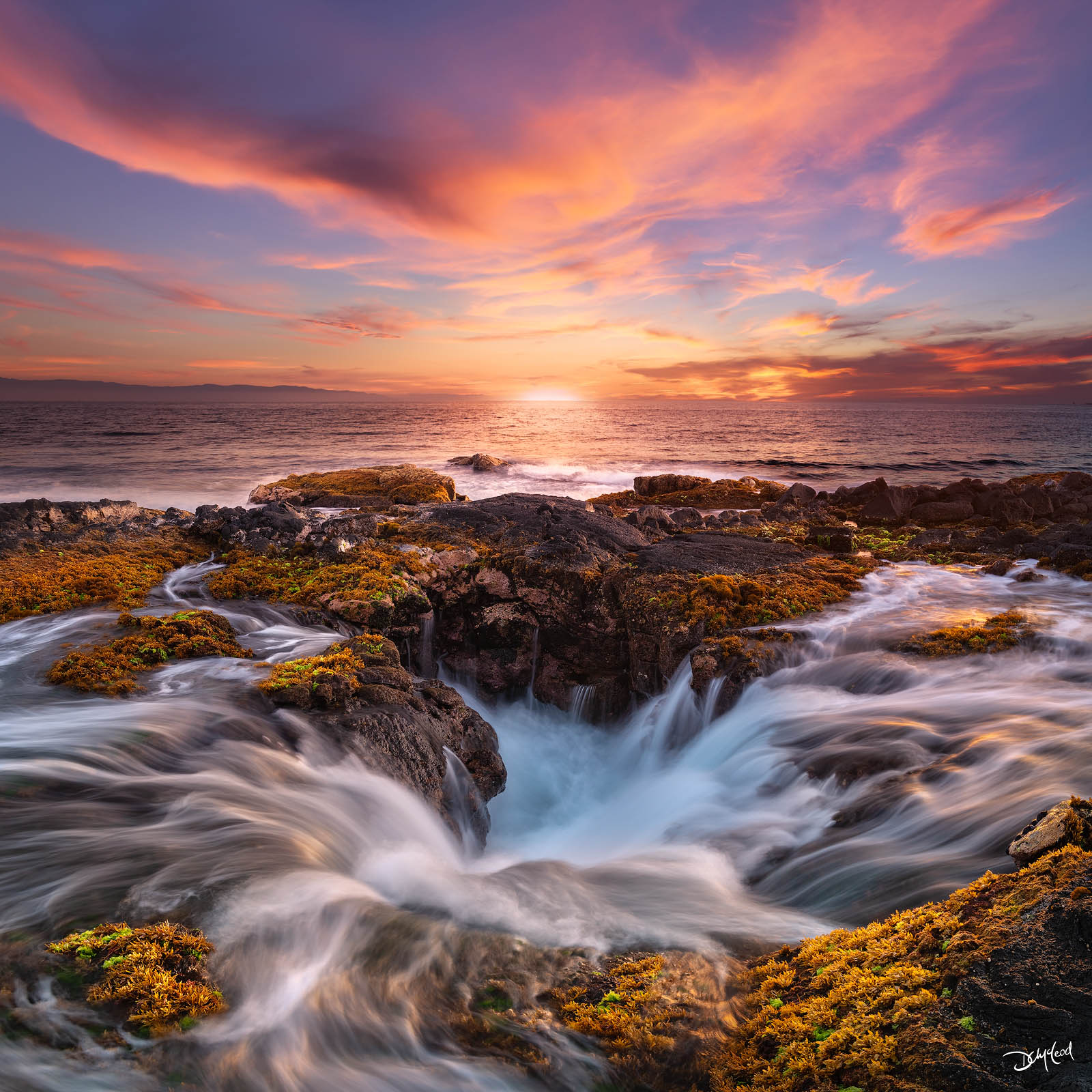 surge, big island, hawaii, ocean, waves, lava, sunset, photo